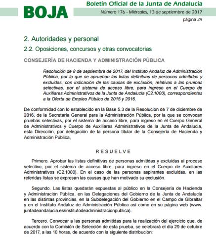 Resolución LISTA Y FECHA C2 OEP2015