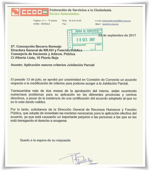 ESCRITO CCOO A DGRRHH Y FPUB APLIC AC JPARC 28-9-17 big