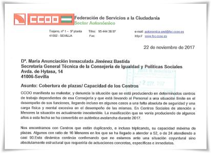 ESCRITO CCOO A SGT IG Y PSOC COB PLAZAS 22-11-17 big