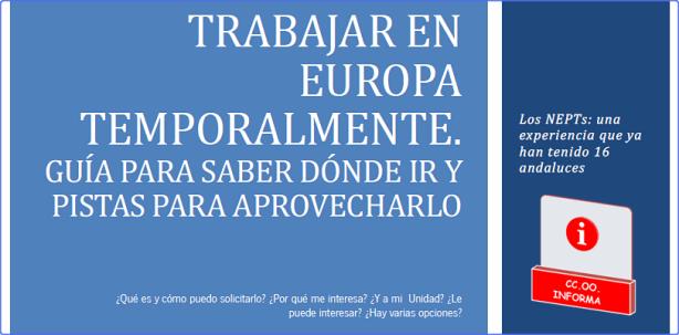 Trabajar en Europa como empleado público, con CCOO Informa bg