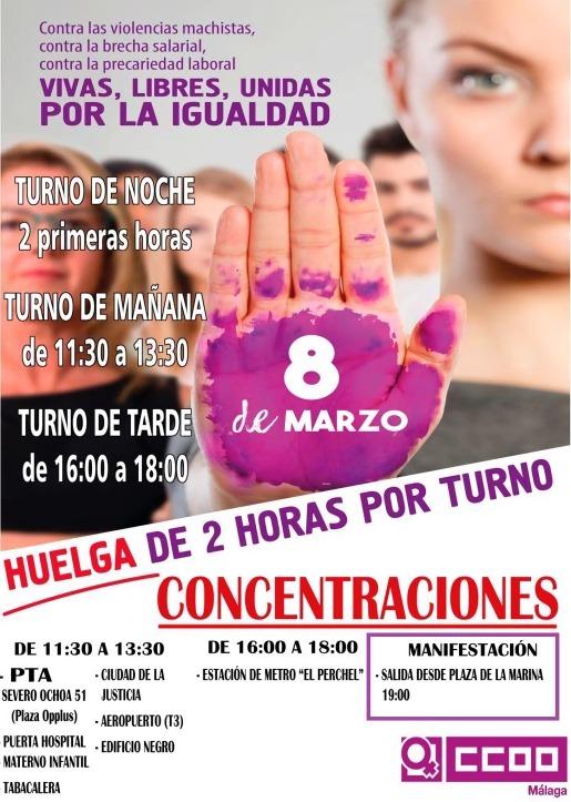 8M Actos CCOO Málaga