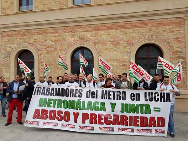Concentración apoyo trab Metro Málaga 450