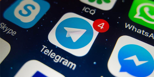telegram on screen 300