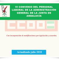 📌El VI Convenio colectivo del personal laboral de la Junta de Andalucía, ACTUALIZADO tras el Acuerdo de la Mesa General de Negociación del pasado 13/07/2018