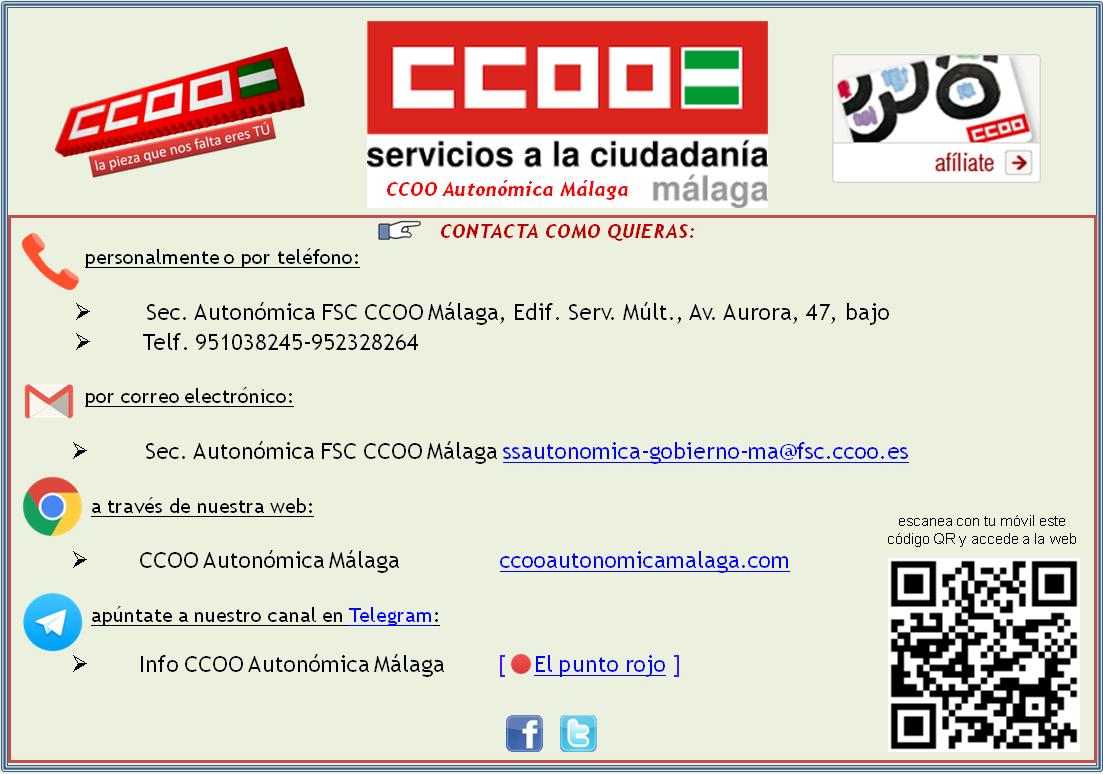 Contacto Sector Autonómica MA