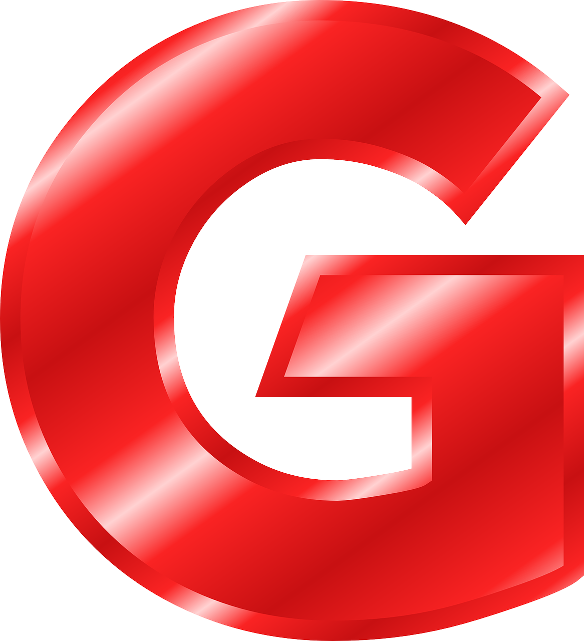 Letra G red bg
