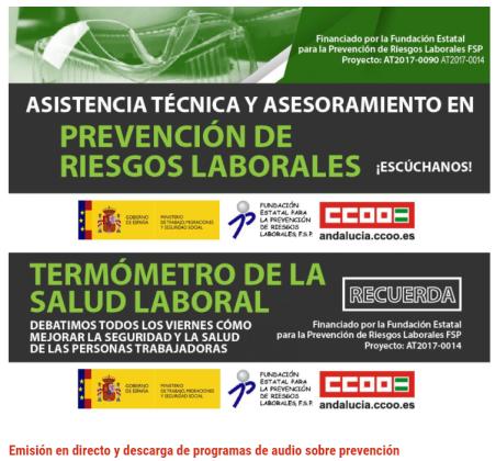 Salud laboral CCOO radio bg