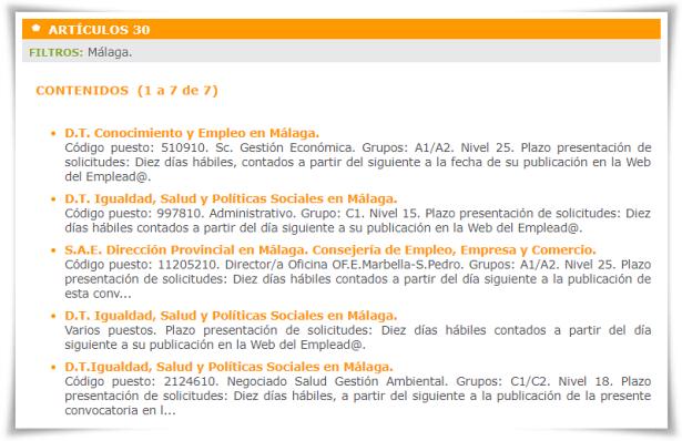 Arts 30 en WEP filtro Málaga bg