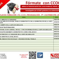 📣 Los primeros cursos de CCOO en 2019 (homologados, GRATUITOS y online) ¡A por ellos!