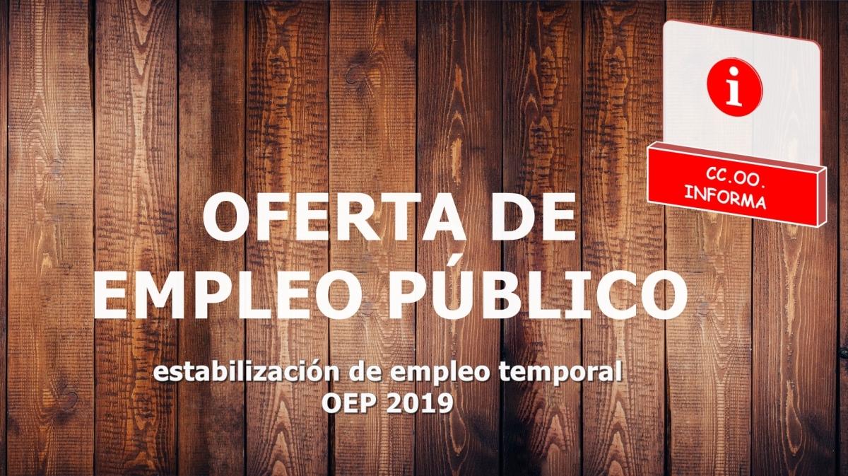 📌La Junta estabilizará 690  plazas de personal funcionario y 2002 de personal laboral. Tabla con las plazas definitivas (BOJA 11/03/2019)