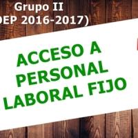 🔎¿Estás entre las 35 personas con plaza? Listados definitivos y oferta de vacantes en Acceso a Laboral fijo del Grupo II (OEP 2016-2017)