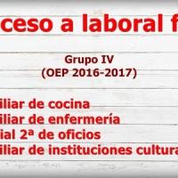 🔎¿Has conseguido plaza?  Listados definitivos de personas adjudicatarias y oferta de vacantes en  Acceso a laboral fijo Grupo IV (OEP 2016-2017)