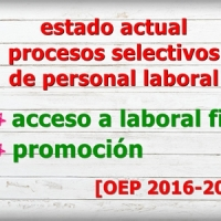 ♻ Así estamos: estado de los procesos selectivos de personal laboral a 17/10/2019 (OEP 2016-2017)