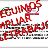 🖥️ Conseguimos la ampliación del Pacto del teletrabajo en la Junta de Andalucía: en el nivel de alerta 4 se alternarán los días de trabajo a distancia con los presenciales