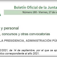 📌 2605 plazas en la Oferta de Empleo Público 2021 de la Junta de Andalucía
